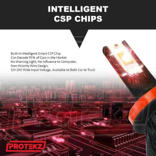 LED Headlight Kit Protekz Bulb H7 6K CREE Low Beam for 2014-2016 RAM PROMASTER
