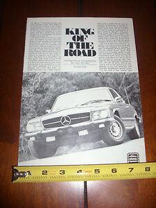 1976 MERCEDES BENZ 450 SLC - ORIGINAL ARTICLE