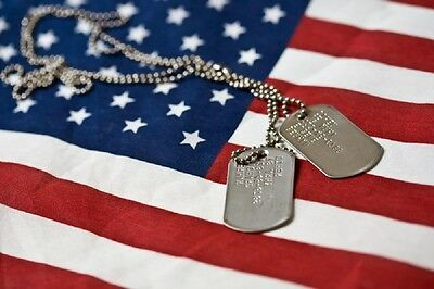 Genuine Military Issue Identification Dog Tags Army Navy USMC Marine Air Force 6