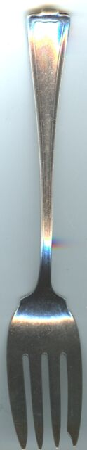 "Silverplated Meat Fork - ? pattern - 1847 Rogers Bros  - 8 1/4"" long"