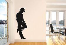 COWBOY VINYL DECAL STICKER ART BUCKAROO WILD WEST WESTERN WAYNE EASTWOOD