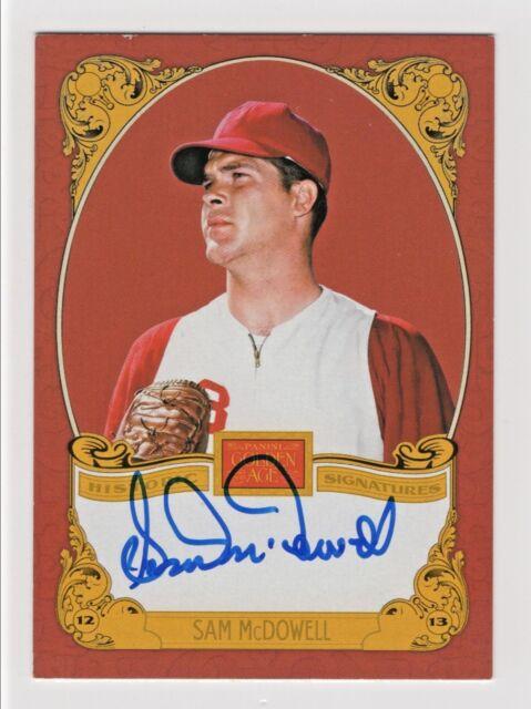 2013 Panini Golden Age Historic Signatures Sam McDowell Cleveland Indians HOF