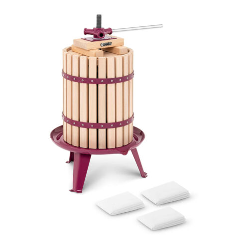 Manuelle Obstpresse Weinpresse Saftpresse Fruchtpresse Holz 18 l Zubehör