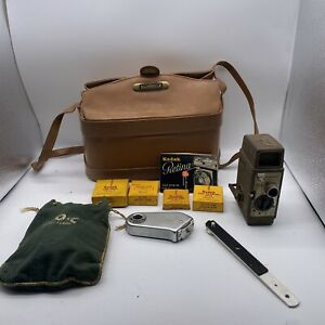 Bell & Howell Sun Dial 220 8MM Movie Camera w/case & accessories tested clean