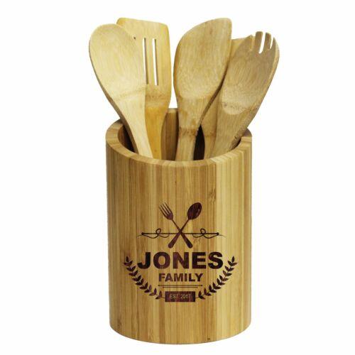 Personalized Kitchen Utensil Holder Custom Engraved