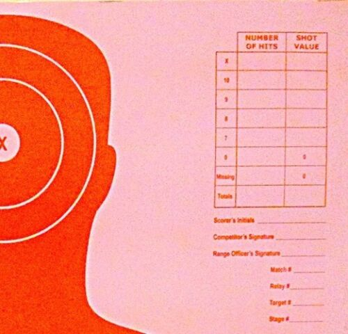 Paper Shooting Targets Orange Silhouette Gun Pistol Rifle B-27 Qty:100 23x35