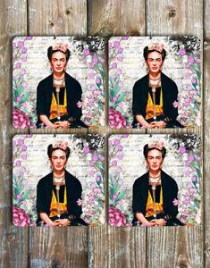 Frida-Kahlo-Coasters-Set-of-4-Non-Slip-Neoprene-Drink-Coasters