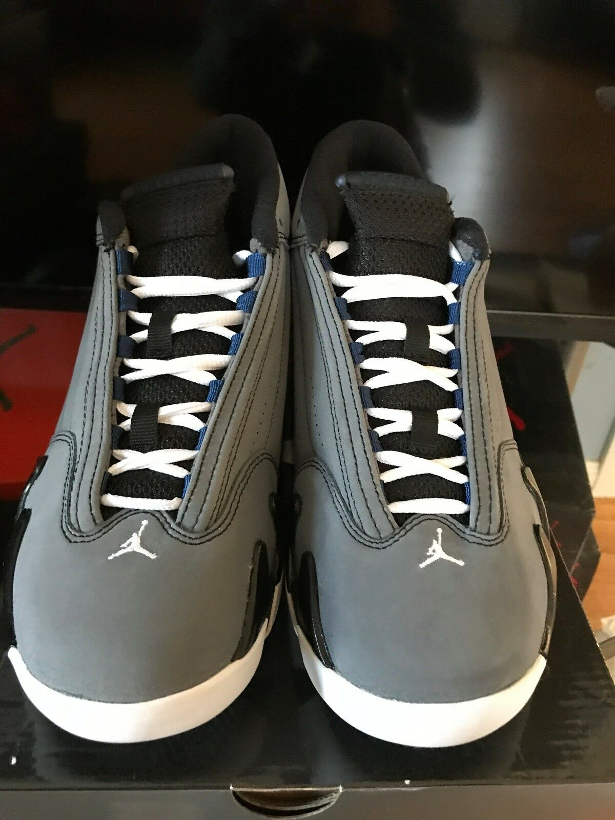 Nike Air Jordan XIV 14 Retro 311832-011 GRAPHITE WOLF GREY WHITE blueE BLACK 7.5