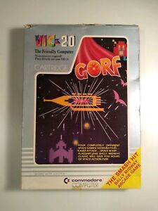 Gorf-for-Commodore-Vic-20-IN-BOX-GREAT-SHAPE-TESTED-1982-Computer-Game
