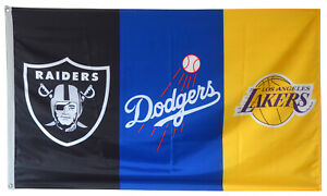 Los-Angeles-Dodgers-Lakers-Oakland-Raiders-Flag-3x5-ft-Banner