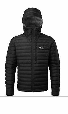 RAB Mens Deep Ink Blue Microlight Alpine Hooded Outdoor Down Jacket XXL 2XL BNWT