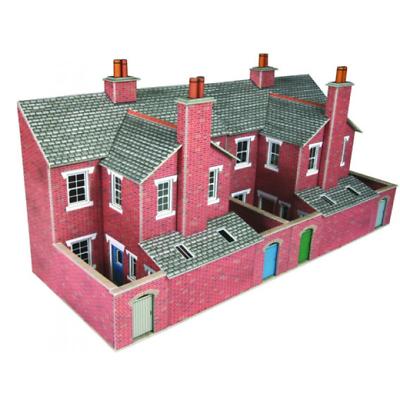 Metcalfe Po276 Low Relief Terraced House Backs Brick Card Kit Oo/ho Gauge Elaborato Finemente