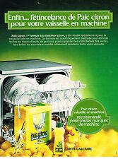 PUBLICITE ADVERTISING 034  1973  PAIC CITRON  pour lave vaiselle