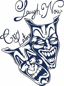 Laugh Now Cry Later Clown Jester Car Truck Window Laptop Vinyl Decal