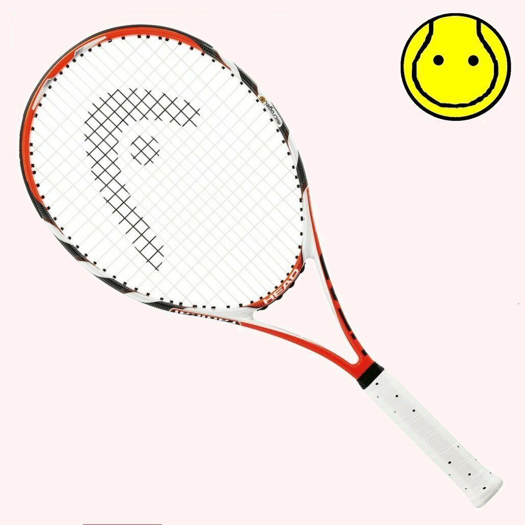 NEW Head MicroGel Radical MP 4-1 8 Grip STRUNG Tennis Racquet - Midplus