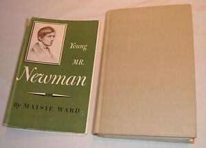 Young-Mr-Newman-Maisie-Ward-1948-Sheed-amp-Ward-Illustrated-Gibern-Frontispiece-NICE