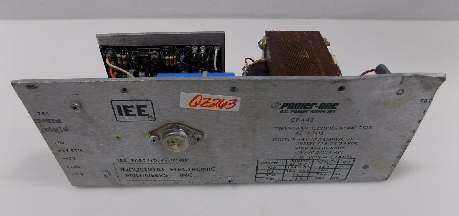IEE POWER-ONE DC POWER SUPPLY CP443