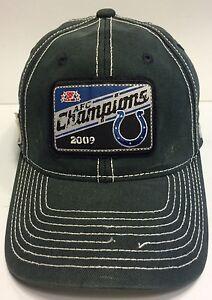 f2b5e989713 NFL Indianapolis Colts AFC Champions 2009 Cap Hat Flexfit Reebok ...