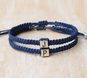 Image Is Loading Initials S Bracelets Boyfriend Friend Jewelry Personalized Gift