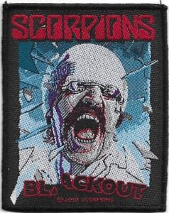 100-Official-Licensed-Merch-Woven-Sew-on-PATCH-Metal-Rock-SCORPIONS-Blackout