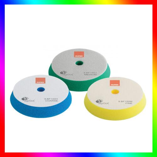 Mousses éponges à polir.3 pièces 130//150mm RUPES Tampons// Disques de polissage