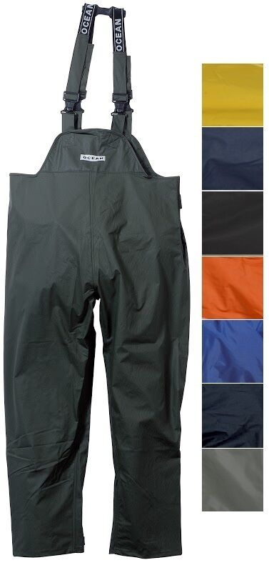 Ocean Comode Allungabile Pantaloni con Bretelle Salopette 210g Pu   da Pesca