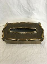 VTG Brass Amerock Carriage House Facial Tissue/Kleenex Box Holder Mid Century
