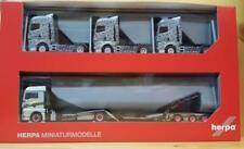 HERPA Modell 1:87//H0 LKW-Transporter-Hängerzug mit 3 MAN Zugmaschinen #311984
