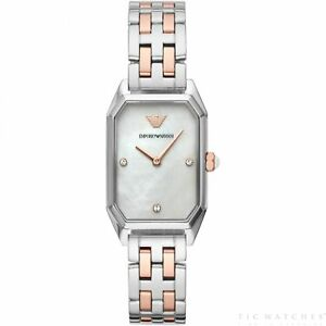 16f8639184d Image is loading Armani-Watches-Armani-AR11146-Silver-amp-Rose-Gold-