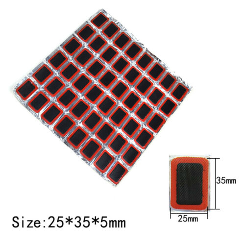 48X Rubber puncture patches bicycle bike tire tyre tube repair cycle patch kit