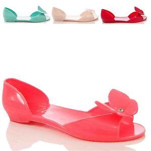 Señoras Mujeres Zapatos Casuales De Verano Jalea Plana Zapatos Sandalias Ojotas jaleas
