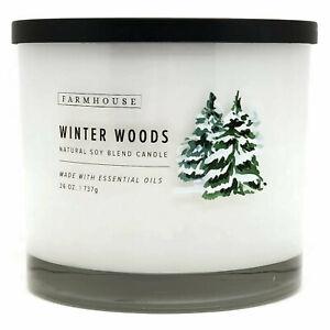 Scentsational-Natural-Soy-Blend-26oz-Cotton-3-Wick-Candle-Jar-Winter-Woods