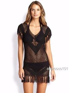 Szm Melissa Crochet Odabash Dress Bnwt Kaftan Coverup Uk10 Fringed knit H8vHq