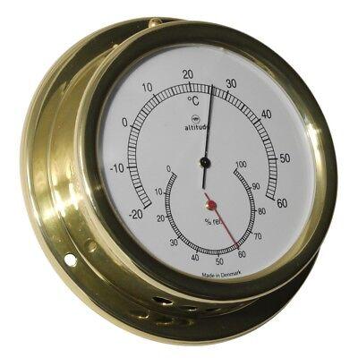 Sport Altitude 858th Thermometer Hygrometer Messing Maritim 127mm Zubehör