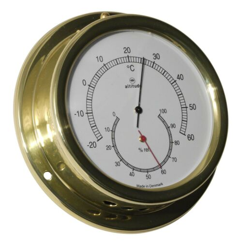 Altitude 858TH Thermometer Hygrometer Messing maritim 127mm