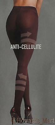 Scala Anti-Cellulite Black Opaque Slimming Tights with Active Bio Crystals NEW