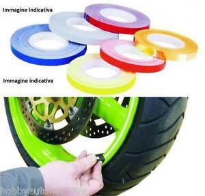 Strisce Adesive Da 7 Mm Colore Silver Race Per Cerchi Con Applicatore