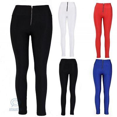 Sexy Legging Size 6 8 10 High Waist Skinny Slim Stretch Footless Zipper Pants