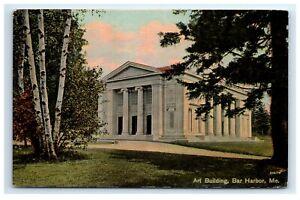 Postcard-Art-Building-Bar-Harbor-Maine-ME-H1