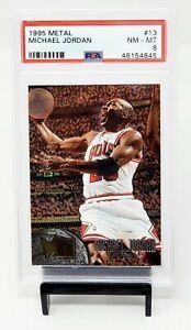 1995-Fleer-Metal-HOF-Chicago-Bulls-MICHAEL-JORDAN-Basketball-Card-PSA-8-NM-MT