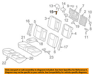 TOYOTA 72551-47010-G0 Reclining Hinge Cover
