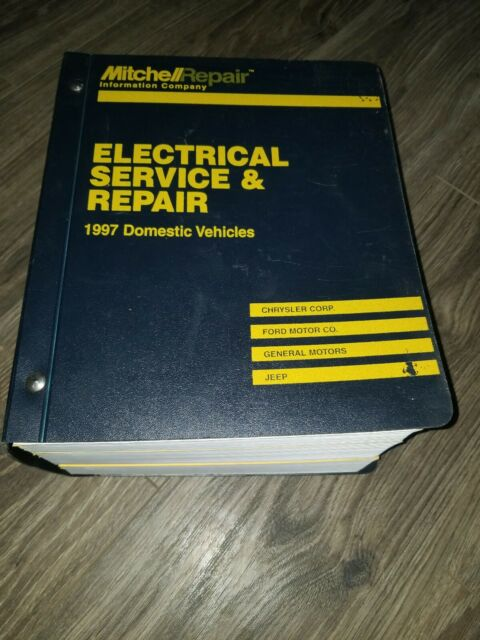 Shop Manual  Mitchell   Electrical Service And Repair  1997