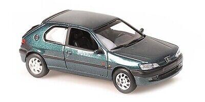 Minichamps maxichamps 940112801 Peugeot 306 1998 GREEN METAL 1//43