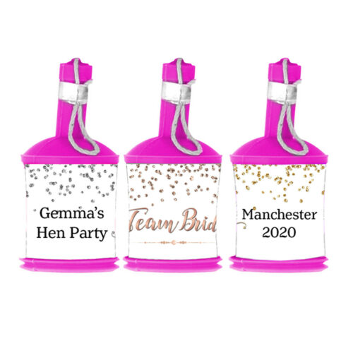 Personalised TEAM BRIDE DIY Party Popper WRAPPERS ONLY Hen Night Do Birthday
