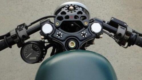 41mm Universal CNC Aluminum Racing Clip On Handle Bars For Honda Kawasaki Yamaha