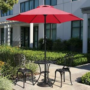 Image Is Loading Patio Umbrella Offset 7 5ft Market Beach Steel