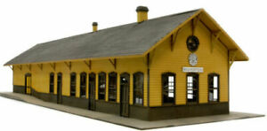 BANTA-2089-HO-SCALE-SILVERTON-DEPOT-Model-Railroad-Building-Wood-Kit-FREE-SHIP