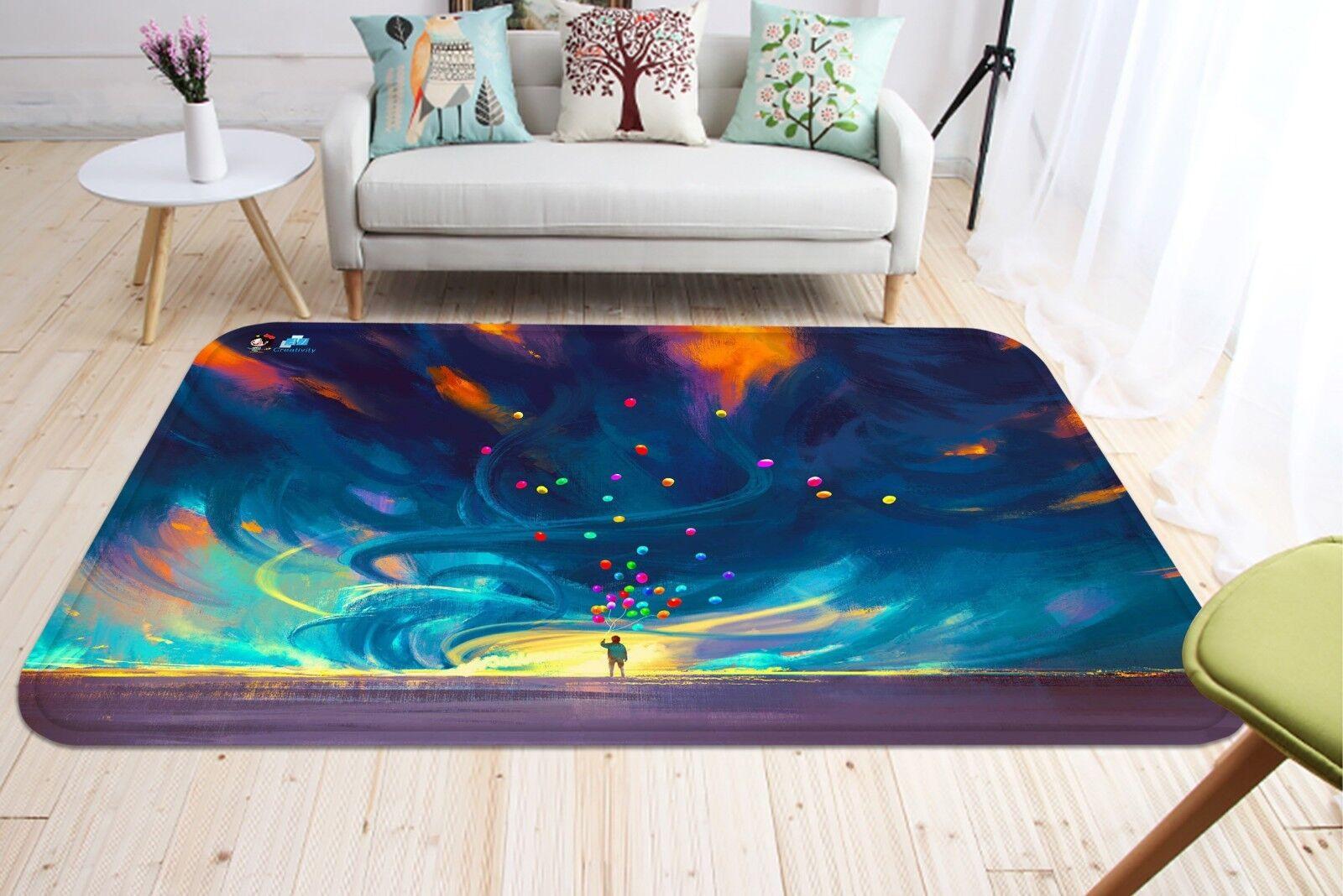 3d dipinto cielo 050 non-slip CARPET MAT quality elegante Carpet de Summer