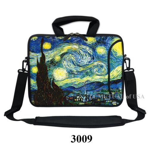 """11.6/"""" 12.3/"""" Neoprene Laptop Bag with Side Pocket /& Shoulder Strap Handle"""