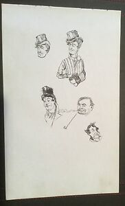 c1890-Portrait-Drawings